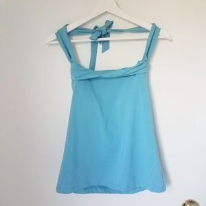 Athleta halter tank top small blue